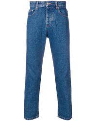 AMI - Klassische Cropped-Jeans - Lyst