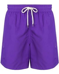 Polo Ralph Lauren - Logo Embroidered Swimming Trunks - Lyst