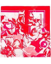 Roberto Cavalli - Roses Print Scarf - Lyst