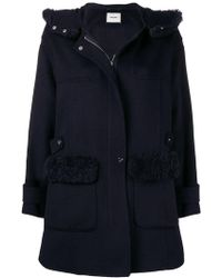 Max & Moi - Shearling Hood Coat - Lyst
