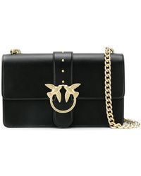 d24be9198b4 Pinko - Love Simply Leather Shoulder Bag - Lyst