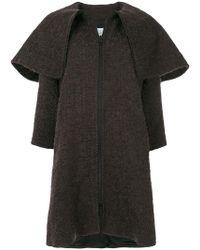 Gianluca Capannolo - Oversized Collar Woven Coat - Lyst