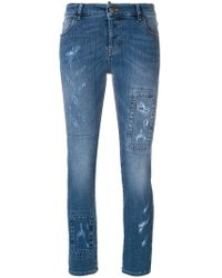 RED Valentino - Distressed Skinny Jeans - Lyst
