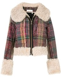 Chloé - Shearling And Wool-blend Tweed Jacket - Lyst