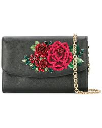 Dolce & Gabbana - Floral Embroidered Clutch - Lyst