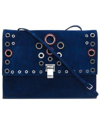 ab731e133c1990 Proenza Schouler Lunch Bag Embellished Metallic Cracked-leather ...