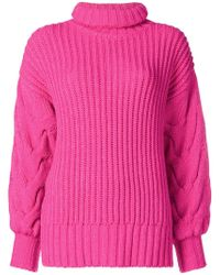 P.A.R.O.S.H. - Turtleneck Ribbed Jumper - Lyst