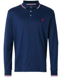 Polo Ralph Lauren | Stripe Tipped Polo Shirt | Lyst