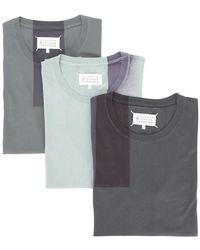 Maison Margiela - 3 Pack T-shirts - Lyst