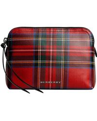Burberry - Large Laminated Tartan And Check Pouch - Lyst