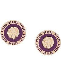 Versus - Lion Stud Earrings - Lyst
