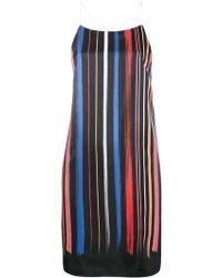 Adam Selman - Stripe Slip Dress - Lyst