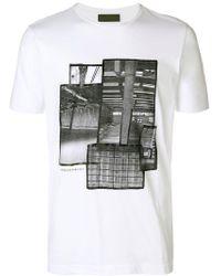 Diesel Black Gold - Ty Industrial Print T-shirt - Lyst