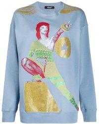 Undercover - Graphic Bowie Print Sweatshirt - Lyst