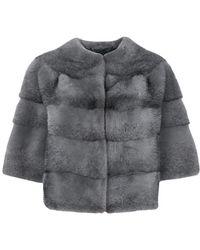 Manzoni 24 - Short-sleeve Fur Jacket - Lyst