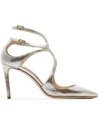Jimmy Choo - Metallic Lancer 85 Pointed Toe Leather Pumps - Lyst