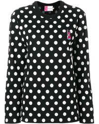Maison Kitsuné - Logo Polka-dot Sweater - Lyst