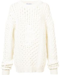 JW Anderson - Oversized Chunky Knit Sweater - Lyst