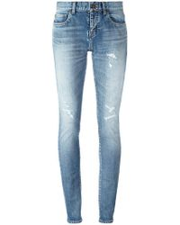 Saint Laurent - Mid-rise Skinny Fit Jeans - Lyst