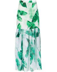 Brigitte Bardot - 'lilian' Foliage Print Skirt - Lyst