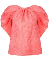 Rosie Assoulin - Gathered Cape Blouse - Lyst