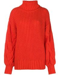 P.A.R.O.S.H. - Ribbed Turtle Neck Jumper - Lyst
