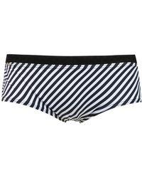 Amir Slama Striped Swim Briefs - Black