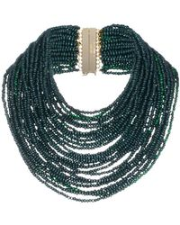 Rosantica - Green Sogno Beaded Necklace - Lyst