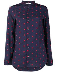 Marie Marot - Diana Heart Embroidered Shirt - Lyst