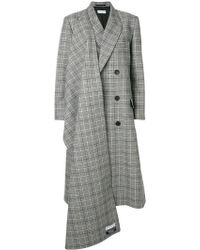 Balenciaga - Asymmetric Double Breasted Coat - Lyst