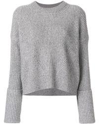 AllSaints - Rib Knit Sweater - Lyst