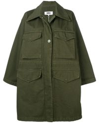 MM6 by Maison Martin Margiela - Military-Jacke im Oversized-Look - Lyst