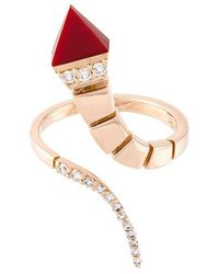 Anapsara - 'temptation' Diamond And Coral Ring - Lyst