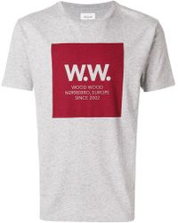 WOOD WOOD - Printed Logo T-shirt - Lyst