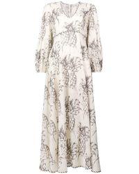Zimmermann - 'Wayfarer' Kleid mit Ananas-Print - Lyst