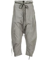 Army Of Me - Cropped Drop Crotch Trousers - Lyst