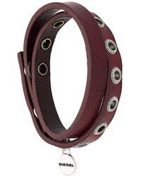 DIESEL - Wrapped Style Bracelet - Lyst