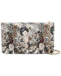 Casadei - Geisha Embroidered Pattern Clutch - Lyst