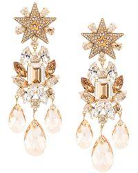 46f58f895 Dolce & Gabbana - Star Embellished Raindrop Earrings - Lyst
