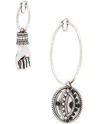 Roberto Cavalli - Mismatched Hoops - Lyst