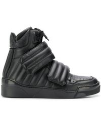 03ebc9757 Lyst - Gucci High Top Contrast Padded Leather Sneaker 368494 in ...