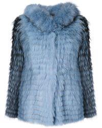 Yves Salomon - Hooded Short Jacket - Lyst