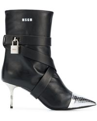 MSGM - High Heel Ankle Boots - Lyst