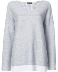ATM | Loose V-neck Sweater | Lyst