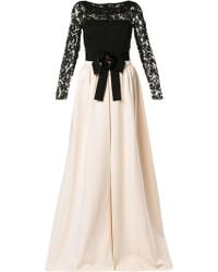02998018b70 Gucci Snake Embroidered Tulle Gown in Black - Lyst