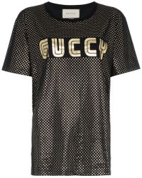 Gucci - Guccy Jersey T-shirt - Lyst