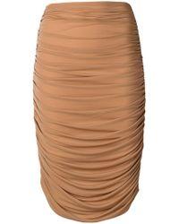Norma Kamali - High-waisted Skirt - Lyst