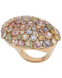Gavello - 18kt Rose Gold Rainbow Sapphire Ring - Lyst