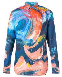 69bda52f4d Alexander McQueen - Paint Brushed Effect Shirt - Lyst