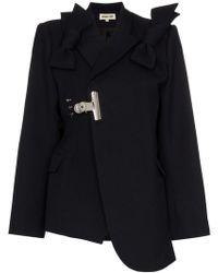 ShuShu/Tong - Bow Detail Asymmetric Wool Blazer - Lyst
